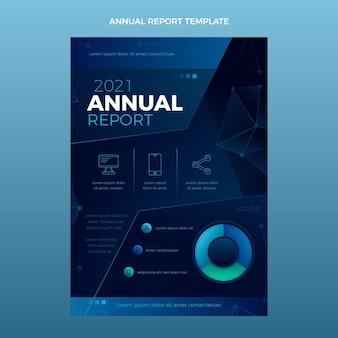 Relatório anual de tecnologia de resumo gradiente Vetor grátis