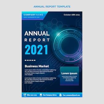 Relatório anual de tecnologia de resumo gradiente