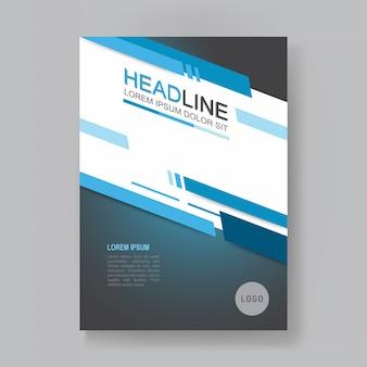 Relatório anual de vetor folheto comercial, projeto de folhetos