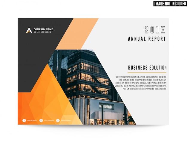 Relatório anual do folheto do folheto do negócio imobiliário corporativo
