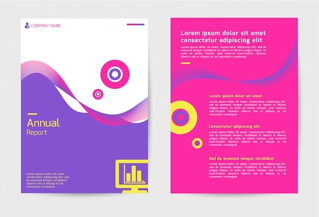 Relatório anual do modelo de capa
