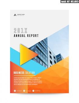 Relatório anual do panfleto limpo liso do folheto do negócio corporativo