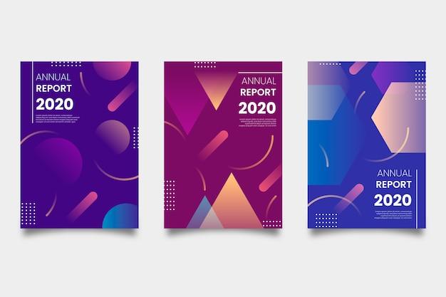 Relatório anual em estilo abstrato colorido
