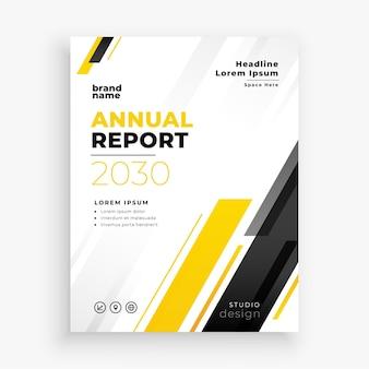 Relatório anual em tema amarelo