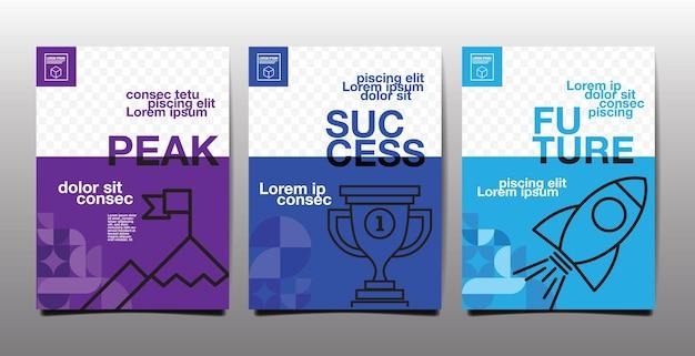 Relatório anual, futuro, negócios, design de layout de modelo, livro de capa, tom de cor azul