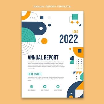Relatório anual imobiliário de design plano