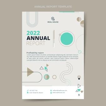 Relatório anual imobiliário geométrico de estilo simples