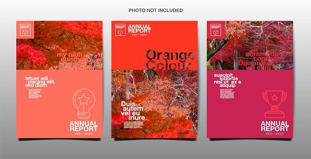 Relatório anual, negócios, design de layout de modelo, livro de capa. vetor
