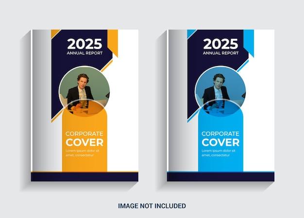Relatório da reunião anual design da capa do livro para negócios comerciais