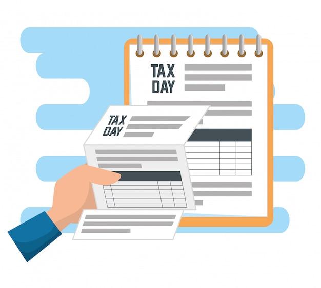 Relatório de documento financeiro de imposto sobre serviços