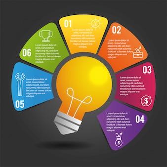 Relatório de estratégia de negócios infográfico com lorem ipsum