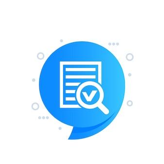 Relatório de pesquisa, ícone de pesquisa de dados
