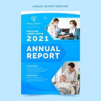 Relatório médico anual de gradiente Vetor grátis