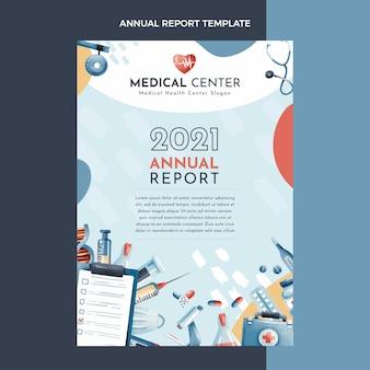 Relatório médico anual desenhado à mão