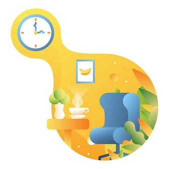 Relaxe a ilustração do tempo