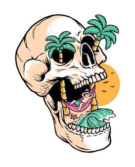 Relaxe na ilha do crânio