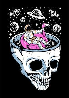 Relaxe na ilustração do espaço
