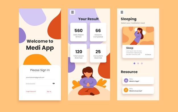 Relaxe sua mente com o aplicativo móvel de meditação