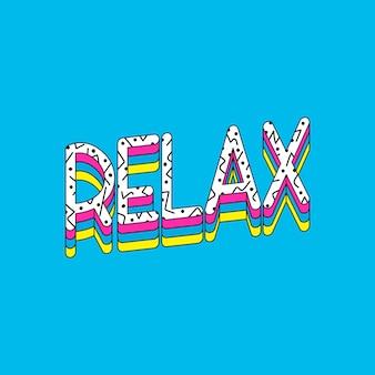 Relaxe tipografia vector