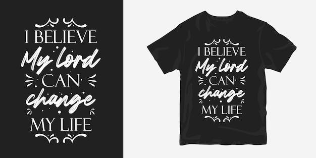 Religião cita tipografia letras design de t-shirt sobre a vida