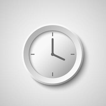 Relógio branco.