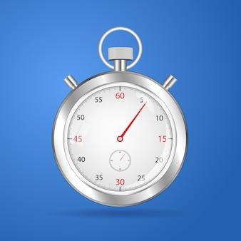 Relógio cronômetro realista cronômetro relógio vector
