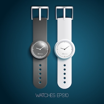 Relógio de acessórios da moda