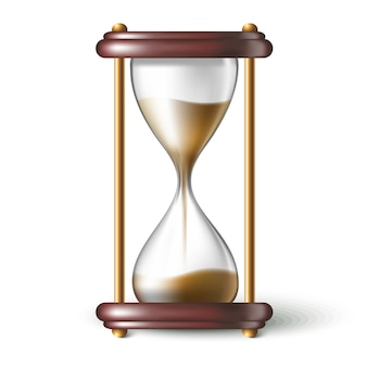 Relógio de areia realista.