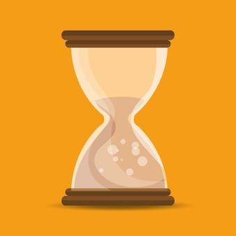 Relógio de areia tempo escola educação on-line símbolo