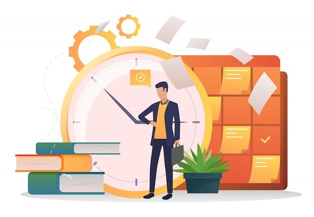 Relógio de consultoria de empresário