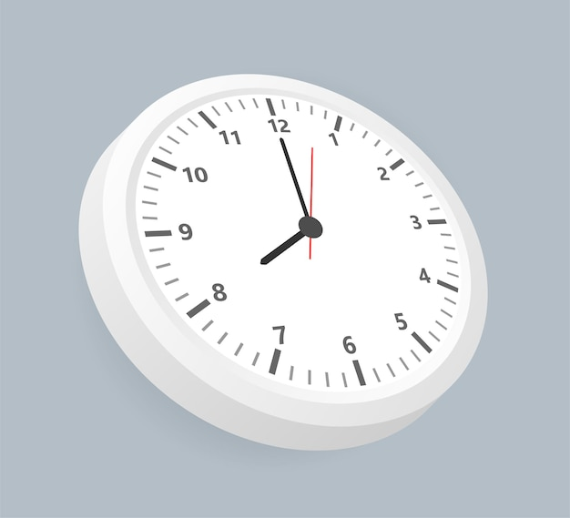 Relógio de escritório realista