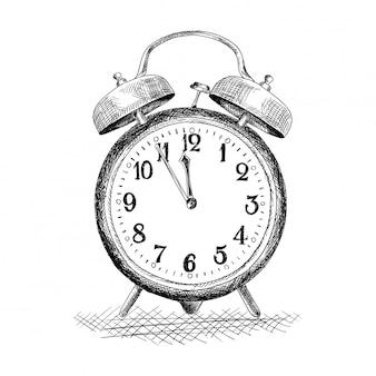 Relógio de mesa com alarme.