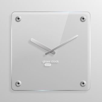 Relógio de parede de vidro