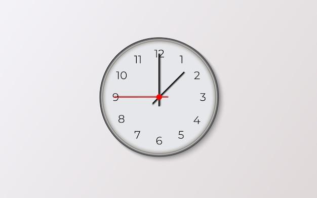 Relógio de parede realista. maquete de relógio