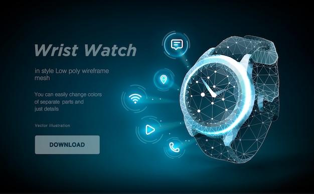 Relógio de pulso 3d
