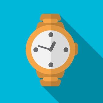 Relógio de pulso ícone plana ilustração isolado símbolo de sinal de vetor