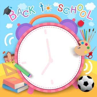 Relógio de volta às aulas
