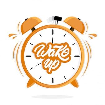 Relógio despertador com letras