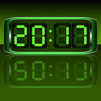 Relógio digital . digital uhr nummer. ilustração de vektor