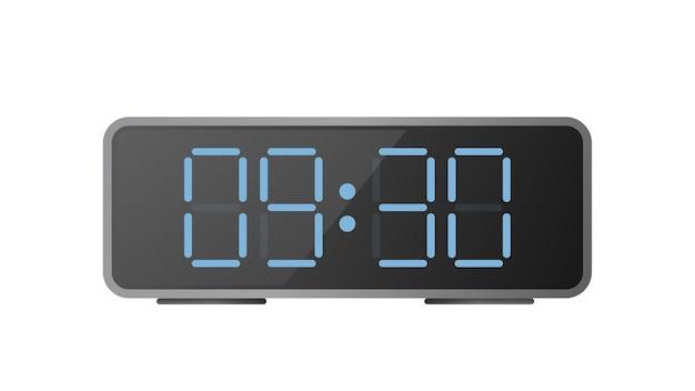 Relógio eletrônico de mesa. relógios modernos para o local de trabalho.
