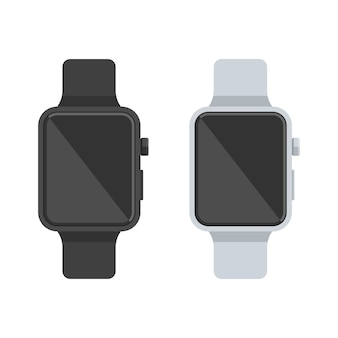 Relógio inteligente branco e preto