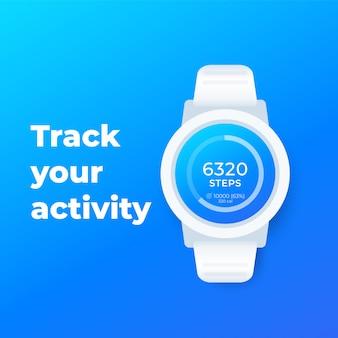 Relógio inteligente com aplicativo de fitness