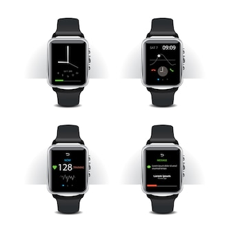 Relógio inteligente com conjunto de exibição digital