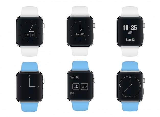 Relógio inteligente com mostradores diferentes