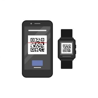 Relógio inteligente e telefone inteligente