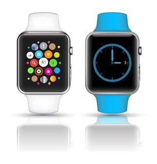 Relógio inteligente isolado com ícones