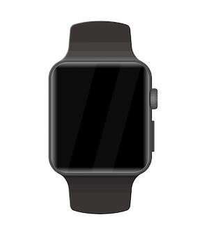 Relógio inteligente isolado no branco.