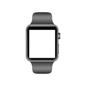 Relógio inteligente realista com tela vazia em branco