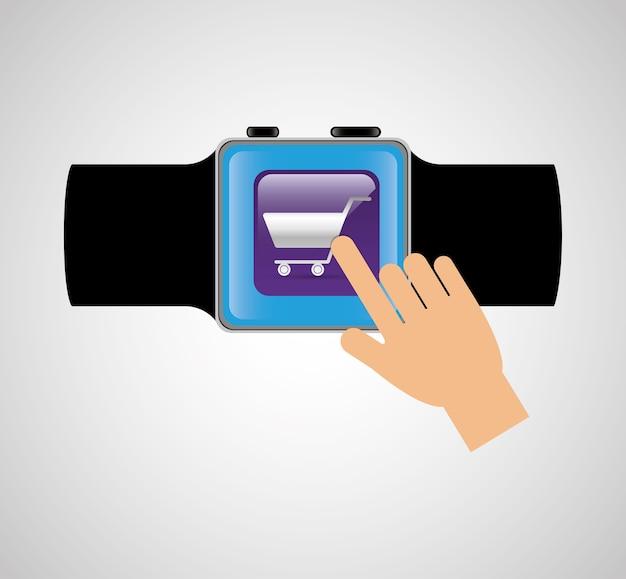 Relógio inteligente tecnologia wearable shooping carrinho online
