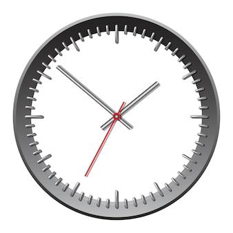 Relógio mecânico de parede. ilustração vetorial